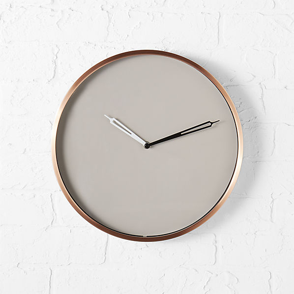 CopperWallClockSHF16