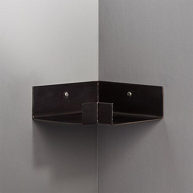 Gunmetal Corner Wall Shelf