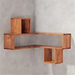 corner block wood shelf