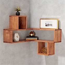 corner block wood shelf