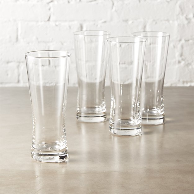 set of 4 corset beer-cocktail glasses