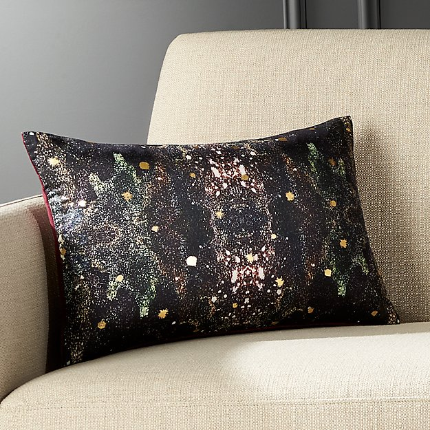 """18""""x12"""" Cosmic Galaxy Pillow with Feather-Down Insert"""