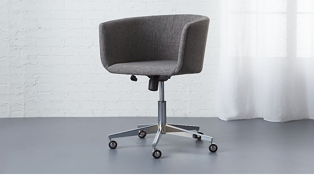 coup grey office chair | cb2