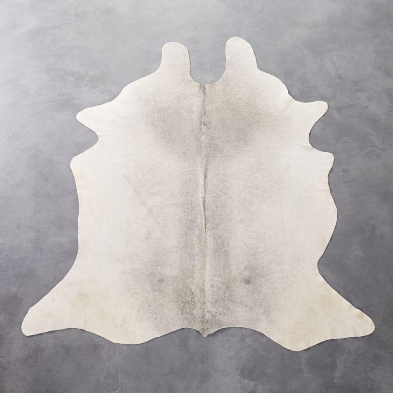 Cowhide Grey Rug Cb2