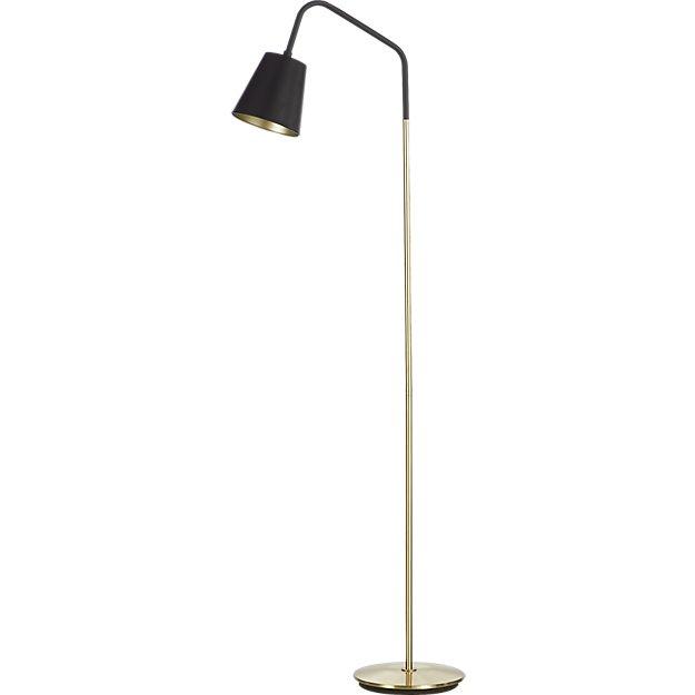Crane black shade floor lamp reviews cb2 for Cb2 disk floor lamp