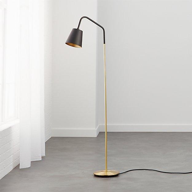Crane black shade floor lamp reviews cb2 for Cb2 lamp pool floor lamp