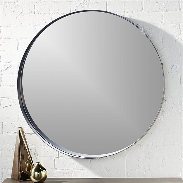 Crescent Round Iron Mirror In Mirrors Reviews Cb2