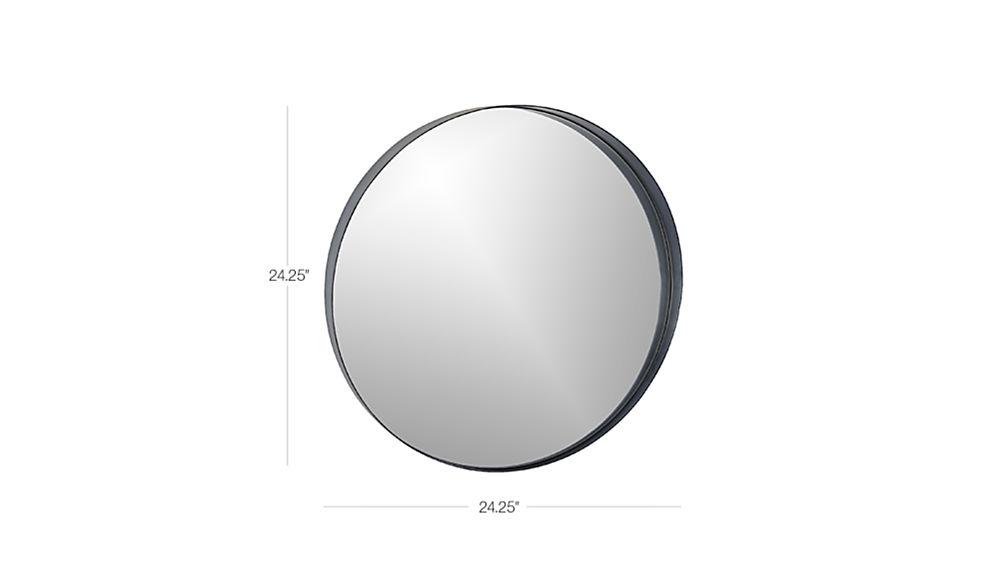 Crescent Round Iron Mirror Cb2