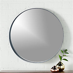 "crescent 24.25"" round wall mirror"