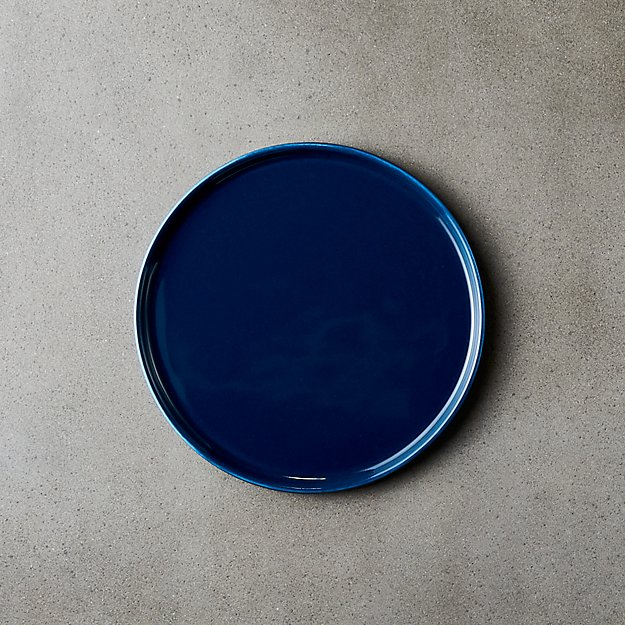 Crewcut Round Blue Appetizer Plate