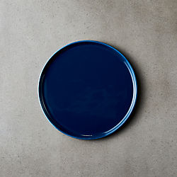 Crewcut Round Blue Appetizer Plate