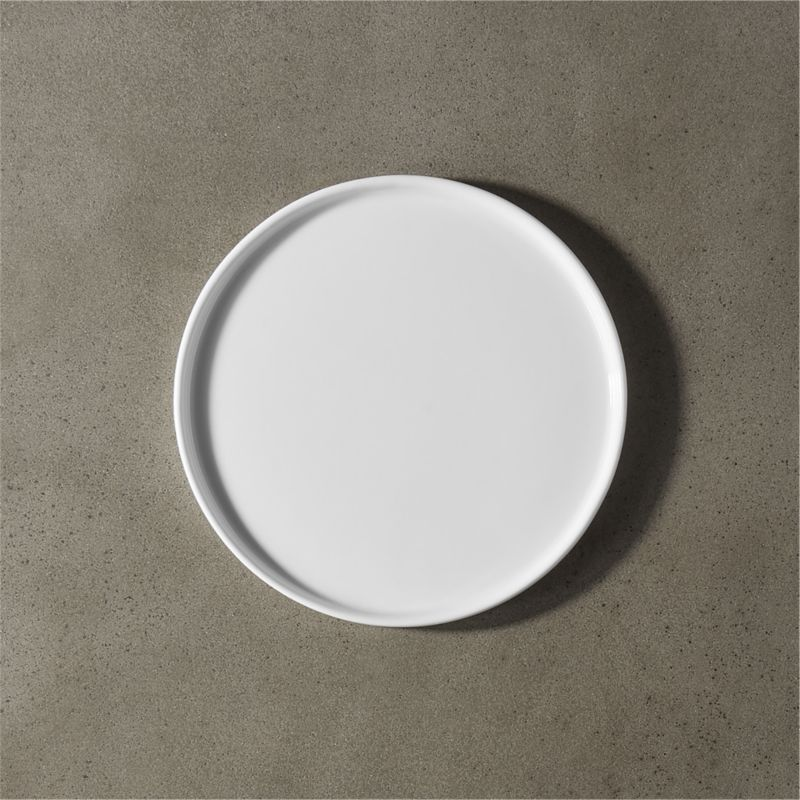 crewcut round white appetizer plate
