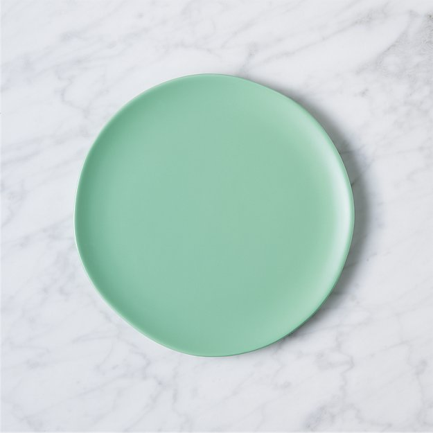 crisp matte seafoam green salad plate