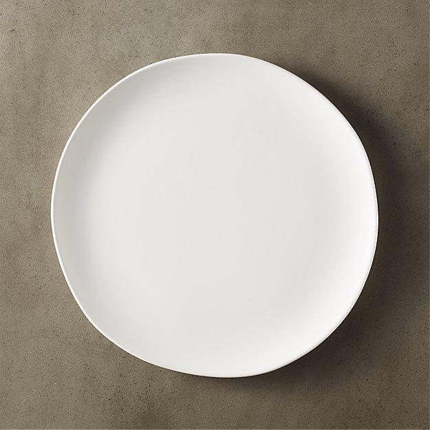 Crisp White Ceramic Dinner Plate Cb2