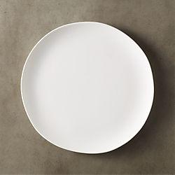 crisp matte white dinner plate