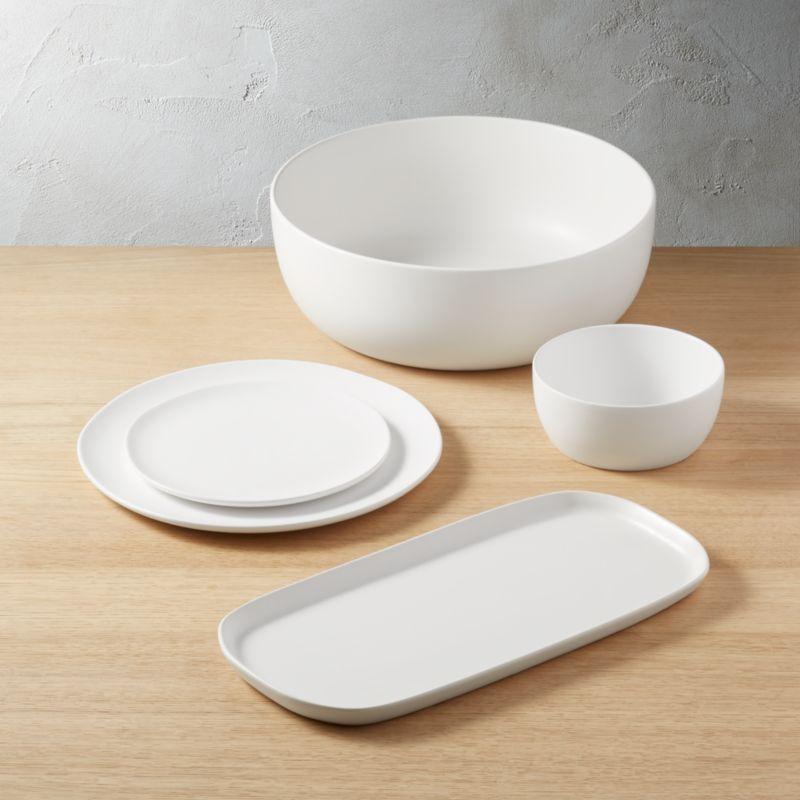 Crisp Matte White Dinnerware Cb2