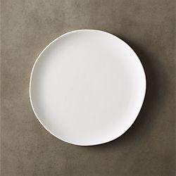crisp matte white salad plate
