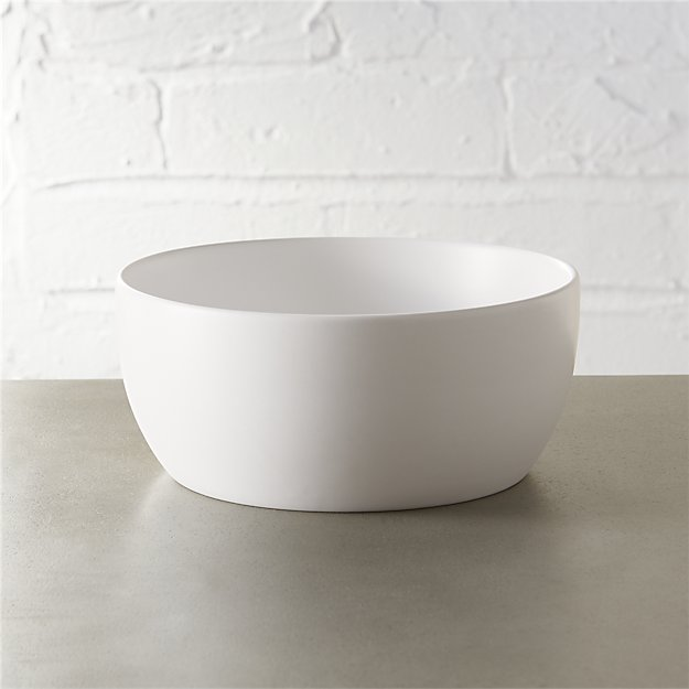 crisp matte white soup bowl
