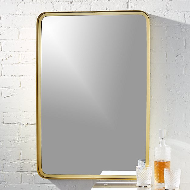 Croft Brass Rectangular Mirror Reviews Cb2