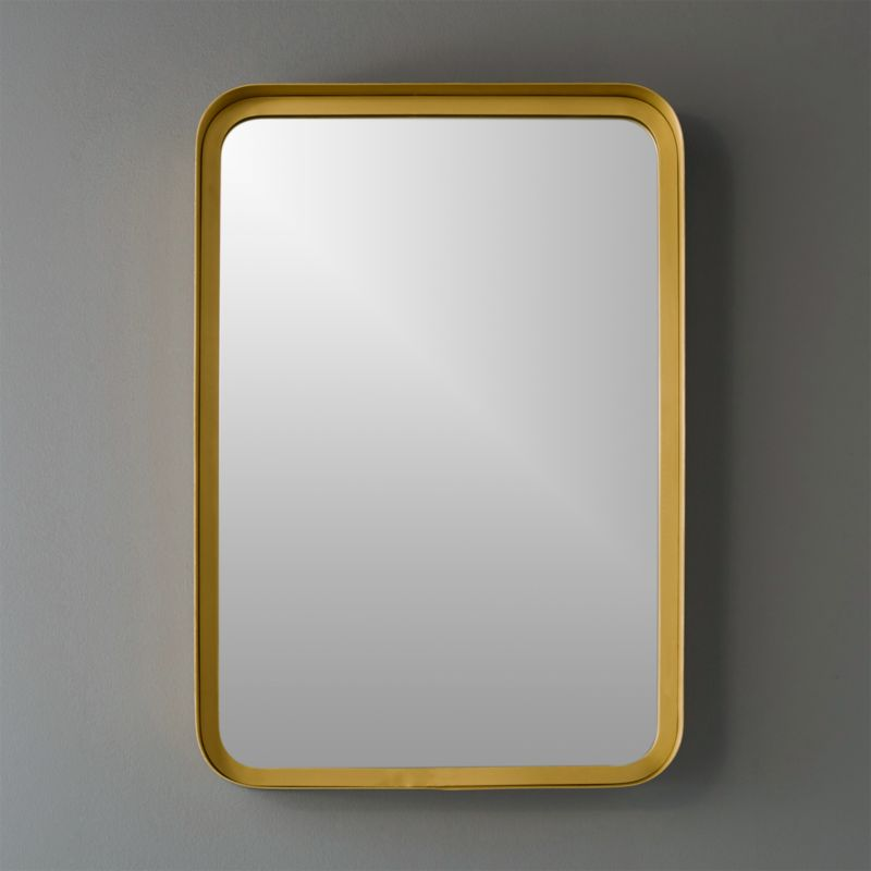 16x245 Croft Brass Wall Mirror