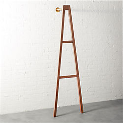 crossbar wall-mounted clothes stand