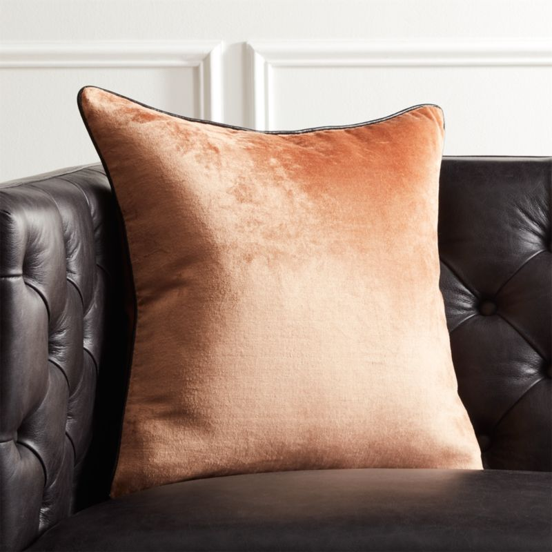 18 u0026quot  copper crushed velvet pillow