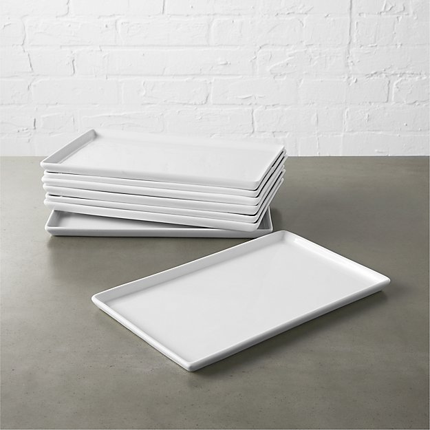 set of 8 cuatro medium platters
