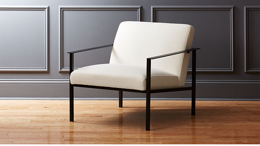 cue white chair with black legs | cb2