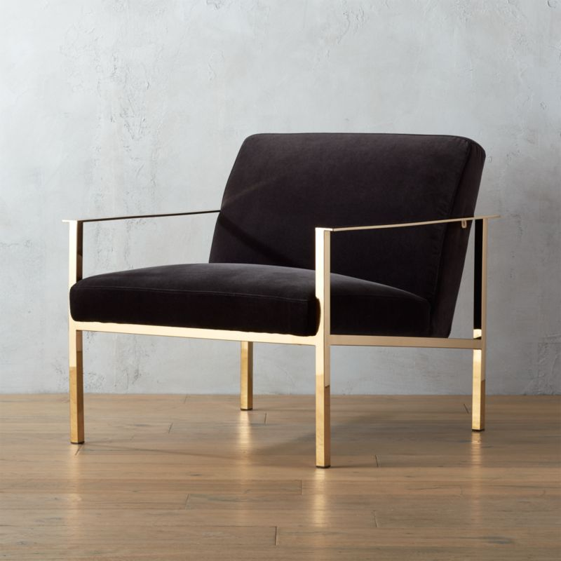 Cue Chair With Brass Legs Cb2