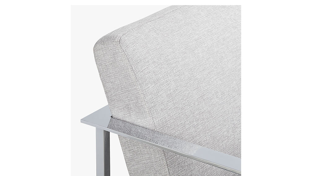 cue chair with chrome legs