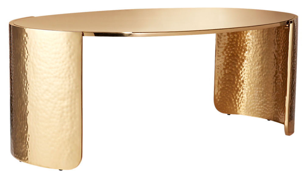 Cuff Hammered Gold Coffee Table