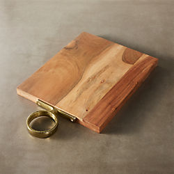 cuff wood server with handle