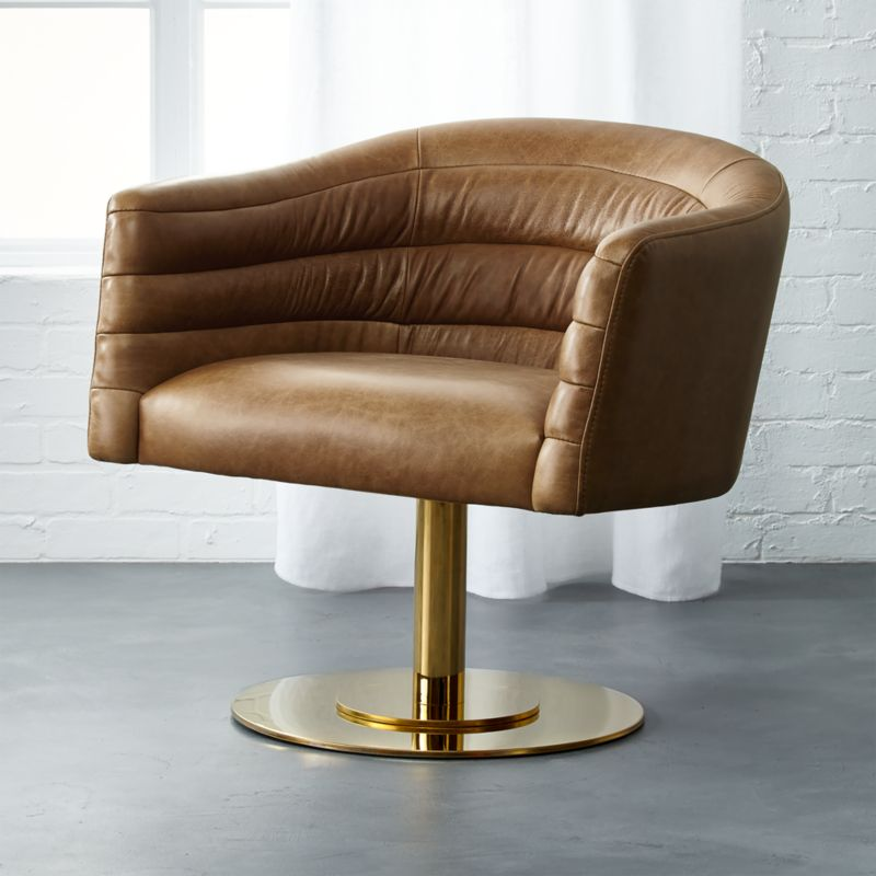 cupa large leather chair | CB2