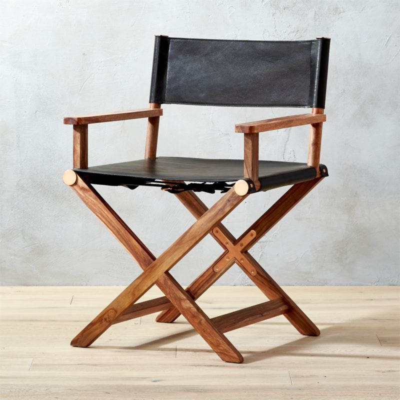 Superb Curator Black Directoru0027s Chair | CB2