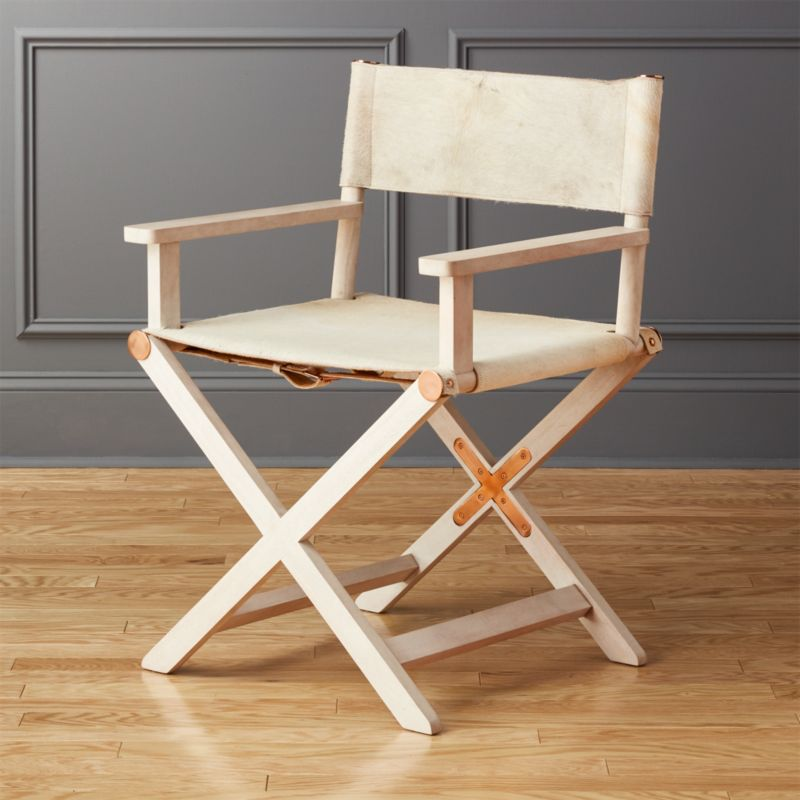 Superior Curator White Directors Chair | CB2