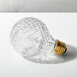 cut glass halogen 40W light bulb
