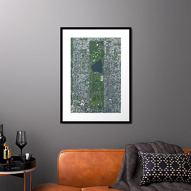 "central park with black frame 25.5""x34.5"""