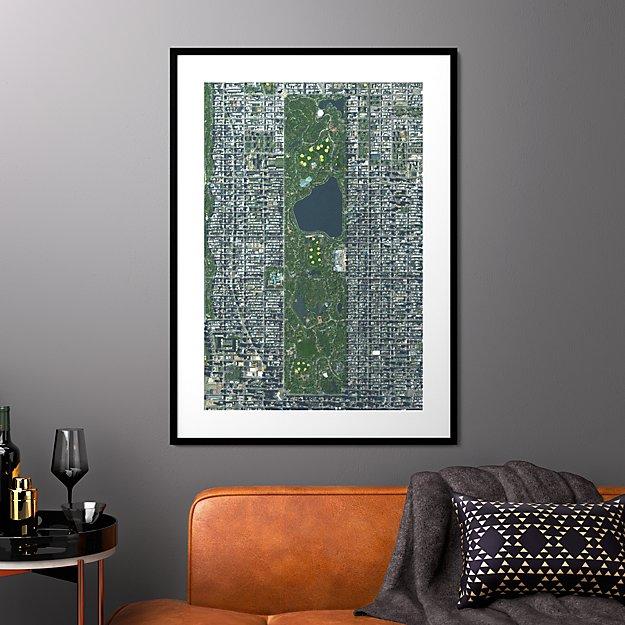 "central park with black frame 31.5""x43.5"""