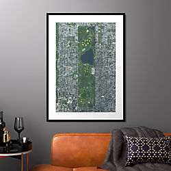 "central park with black frame 31.5""x43.5"""