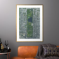 "central park with gold frame 31.5""x43.5"""