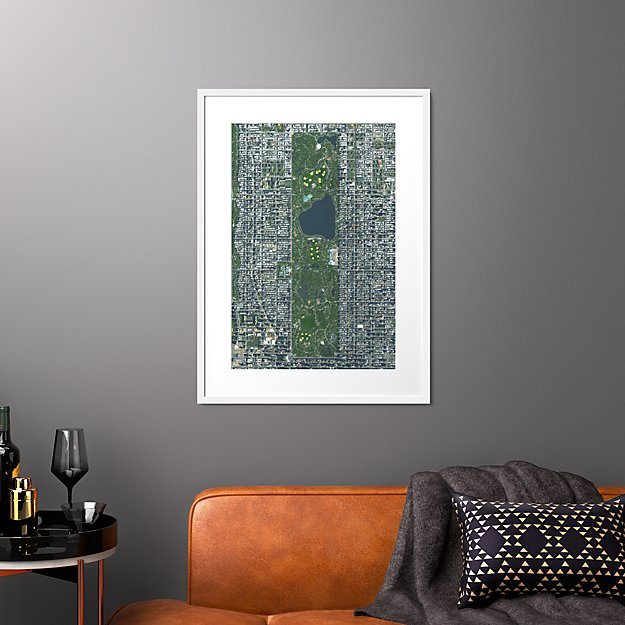 """central park with white frame 25.5""""x34.5"""""""