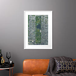"central park with white frame 25.5""x34.5"""