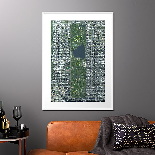 "central park with white frame 31.5""x43.5"""