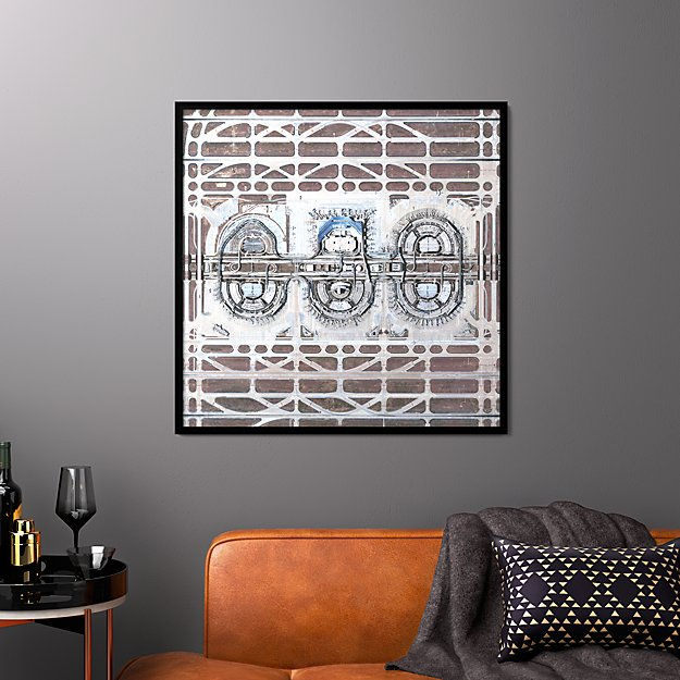 """dfw airport with black frame/no mat 33.5""""x33.5"""""""