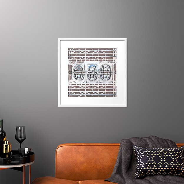 """dfw airport with white frame 25.5""""x25.5"""""""