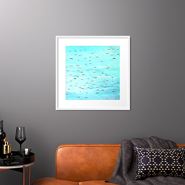 """indonesian ships with white frame 27.5""""x27.5"""""""