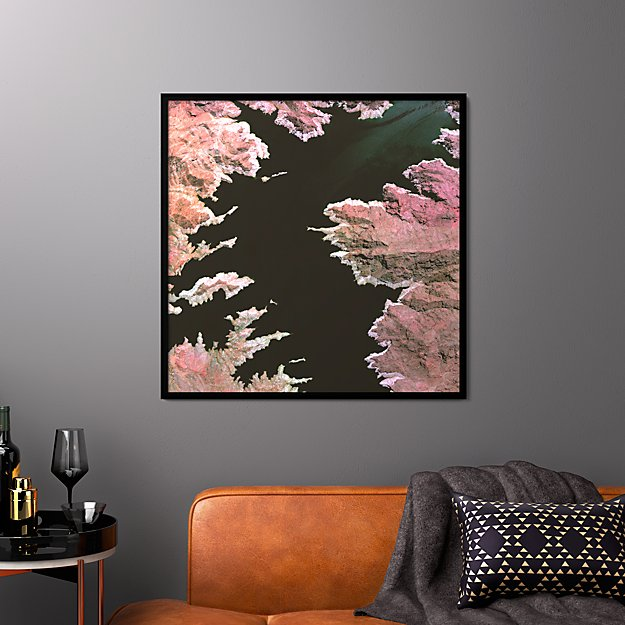 """lake mead with black frame/no mat 33.5""""x33.5"""""""