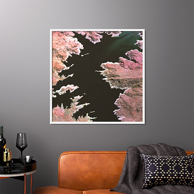 """lake mead with white frame/no mat 33.5""""x33.5"""""""