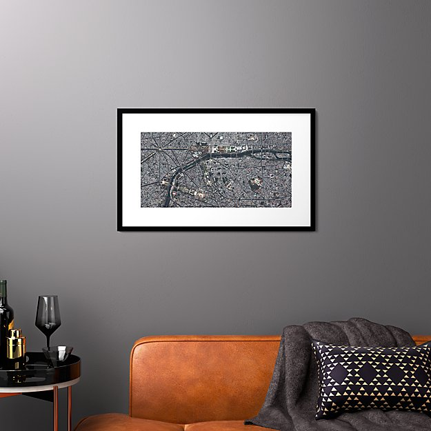 "paris with black frame 31.5""x19.5"""