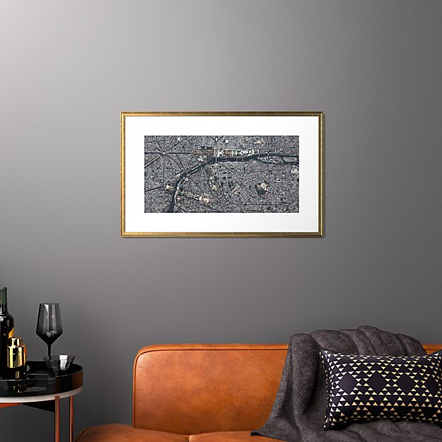 "paris with gold frame 31.5""x19.5"""